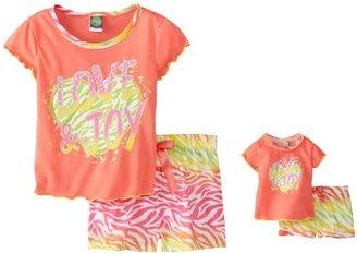 Dollie & Me Little Girls' Love and Toy Short Sleep Pajama Set