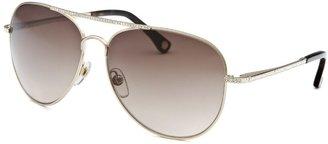 Michael Kors Women's Aviator Silver-tone Sunglasses