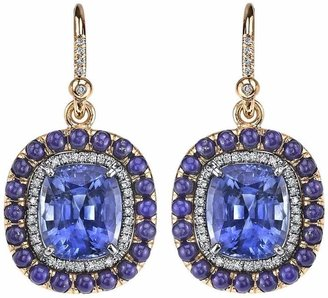Irene Neuwirth lapis lazuli, sapphire and diamond earrings