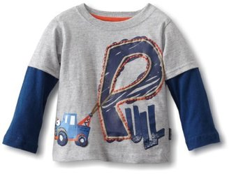Sesame Street Watch Me Grow! by Baby-boys Infant Pull Mock Twofer Shirt