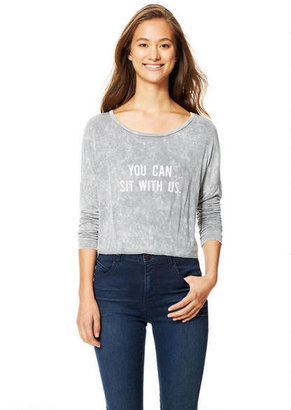 Delia's You Can Sit With Us Long-Sleeve Top
