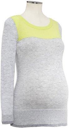 Gap Striped colorblock sweater