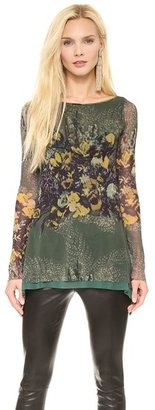 Jean Paul Gaultier Long Sleeve Printed Top