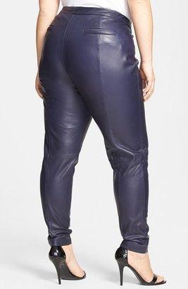 Halogen 'Leggy' Leather Ankle Pants (Plus Size)
