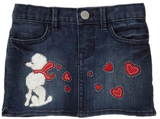 Gap Embroidered heart denim mini skirt