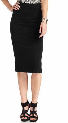 Vince Camuto Ponte-Knit Midi Skirt $69 thestylecure.com