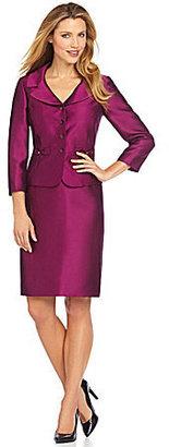Tahari by Arthur S. Levine Tahari by ASL Bow-Pocket Skirt Suit