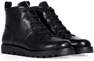 Marc by Marc Jacobs Black Leather Lace-Up Ankle Boots