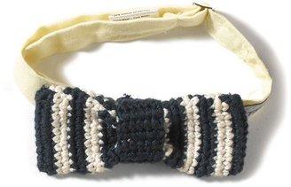 Toms Navy & White Stripe Lincoln Jr Bow Tie