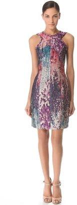 J. Mendel Sleeveless Dress with Angled Neckline