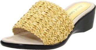 David Tate Women's Bando Sandal,Yellow,7 W (D) US