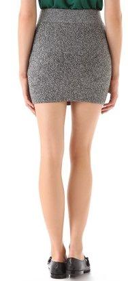 Alexander Wang Marled Knit Mini Skirt