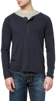 Nudie Jeans Fairtrade Organic Cotton Henley T-shirt