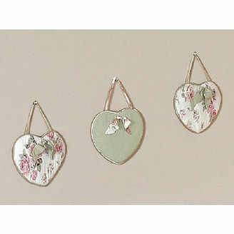 JoJo Designs Sweet Riley's Roses Collection 3-Piece Plush Wall Hanging Set