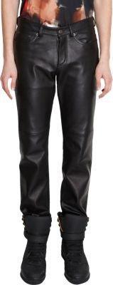 Givenchy Five-Pocket Leather Pants