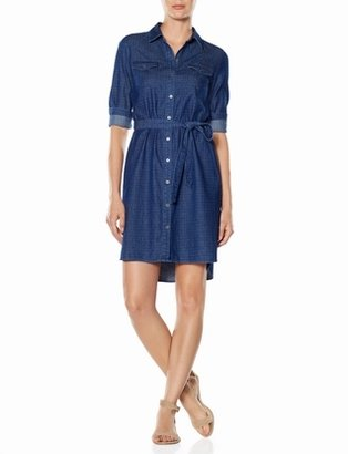The Limited Dotted Chambray Shirtdress