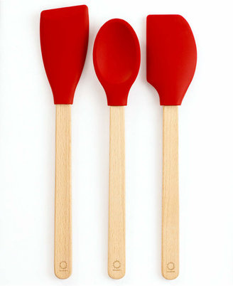 Martha Stewart Collection Set of 3 Silicone Beechwood Utensils