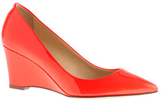 J.Crew Everly patent wedges