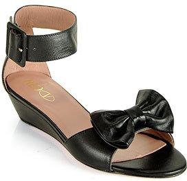 RED Valentino EQS00210 - Black Leather Wedge Sandal