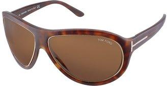 Tom Ford Angus - Metal Trim Logoed Temple Teacup Sunglasses