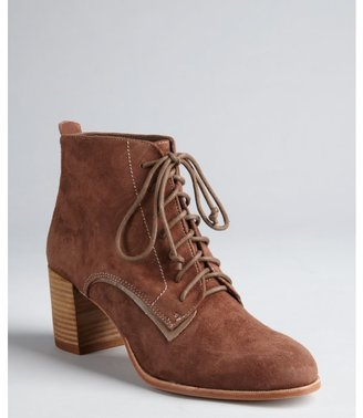 Dolce Vita light brown suede 'Hal' lace up ankle boots