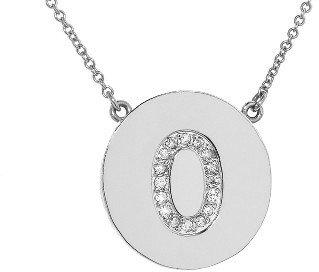 Jennifer Meyer Diamond Letter Necklace - O - White Gold