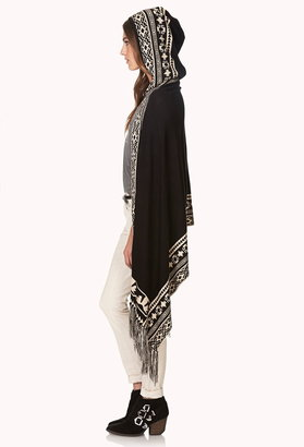 Forever 21 winter nights fringed poncho