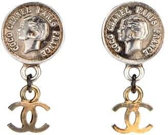 Chanel coin clip on earrings