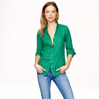 J.Crew Petite perfect shirt in linen