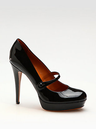 Gucci Betty Patent Leather Mary Jane Pumps