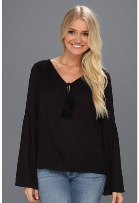 Billabong Speak Slowly L/S Top (Off Black) - Apparel
