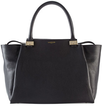 Lanvin Trilogy Leather Tote Bag, Black