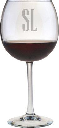 JCPenney 2 Letter Block Monogrammed Red Wine Glasses