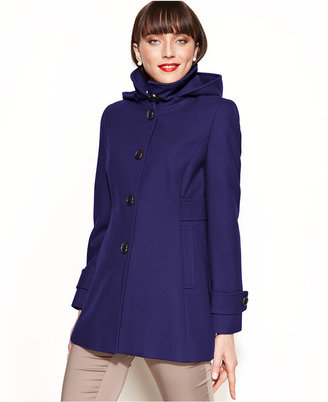 Kenneth Cole Reaction Hooded Wool-Blend Car Coat