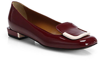 Fendi Patent Leather Loafer Ballet Flats
