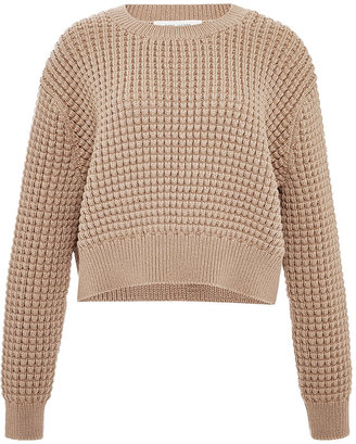 Marc Jacobs Cropped Waffle-Knit Sweater