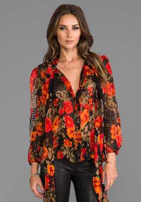 Tracy Reese Tie Neck Top