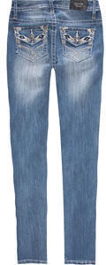 ZCO Aztec Back Pocket Girls Skinny Jeans