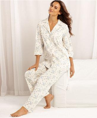 Lauren Ralph Lauren Pajamas, Grace Knits Long Sleeve Top and Pajama Pants Set