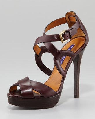 Ralph Lauren Jesita Crisscross Platform Sandal