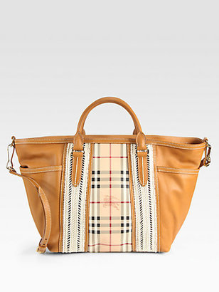 Burberry Haymarket Herringbone Baby Bag