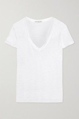 James Perse - Casual Slub Cotton T-shirt - White $75 thestylecure.com