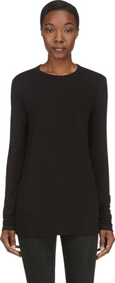 Alexander Wang Black Classic Long Sleeve T-Shirt