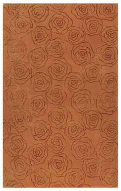 Rosettes Wool and Silk Rug