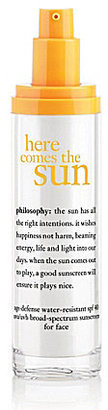 philosophy here comes the sun age-defense water-resistant spf 40 UVA/UVB broad-spectrum sunscreen for face