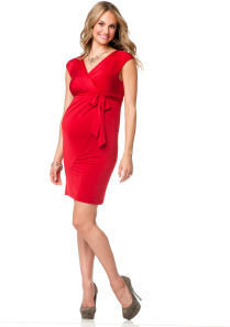 Motherhood Jessica Simpson Short Sleeve Faux Wrap Maternity Dress
