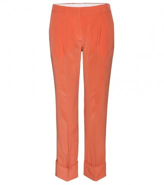 Chloé CROPPED SILK TROUSERS