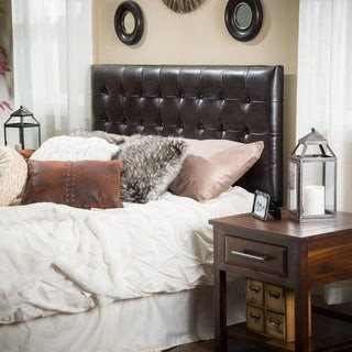 Christopher Knight Home Austin Adjustable King/California King Tufted Bonded Leather Headboard