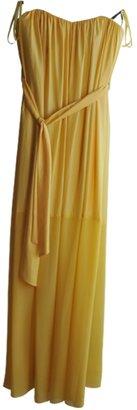 BCBGMAXAZRIA Yellow Polyester Dress