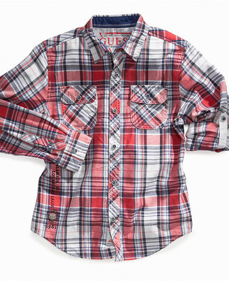 GUESS Kids Shirt, Boys Drake Plaid Shirt